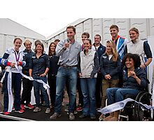 Olympic & Paralympic medal winners open the PSP Southampton boat show 2012 Photographic Print