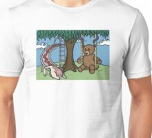 Teddy Bear And Bunny - The Playground Unisex T-Shirt