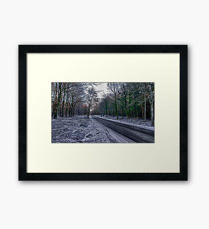A Winters Scene Framed Print