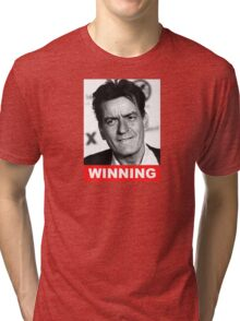 Charlie Seen x WINNING! (Official RED Normal Style Text) Tri-blend T-Shirt