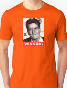 Charlie Seen x WINNING! (Official RED Normal Style Text) T-Shirt