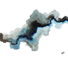 Grey Skies and Blue Water Photographic Print
