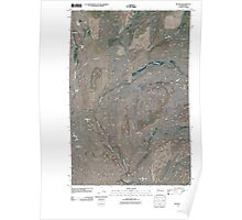 USGS Topo Map Washington State WA Revere 20110401 TM Poster