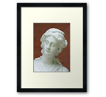 Statue of a Lady with a Spider in her Ear Framed Print
