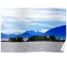 Guard Island Light Lighthouse in Clarence Strait Alaska Poster