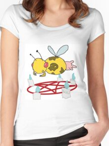 Bumble the cow Women's Fitted Scoop T-Shirt