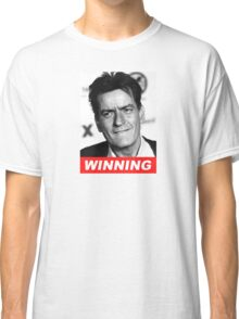 Charlie Seen x WINNING! (Official RED Italic Style Text) Classic T-Shirt