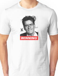 Charlie Seen x WINNING! (Official RED Italic Style Text) Unisex T-Shirt