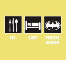 Eat Sleep Protect Gotham Kids Clothes