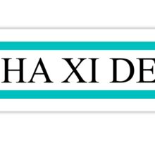 A Xi D teal bars Sticker