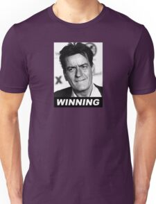Charlie Seen x WINNING! (Official BLACK Italic Style Text) Unisex T-Shirt