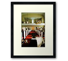 The Purrfect Wedding Framed Print