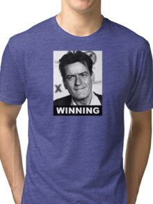 Charlie Seen x WINNING! (Official BLACK Normal Style Text) Tri-blend T-Shirt