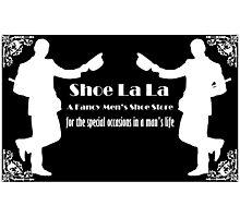 Shoe La La - White on Black Photographic Print