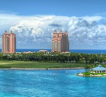 Atlantis Towers in Paradise Island, The Bahamas by Jeremy Lavender Photography
