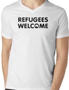 Refugees Welcome Australia Mens V-Neck T-Shirt