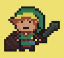 Link, Hyrule's Pixel Guardian Kids Clothes