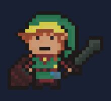 Link, Hyrule's Pixel Guardian Kids Clothes