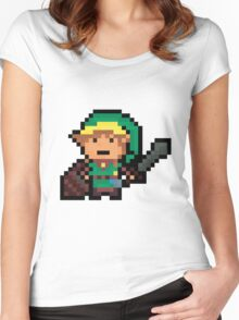 Link, Hyrule's Pixel Guardian Women's Fitted Scoop T-Shirt
