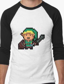 Link, Hyrule's Pixel Guardian Men's Baseball ¾ T-Shirt
