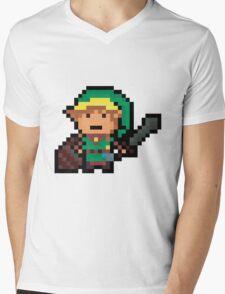 Link, Hyrule's Pixel Guardian Mens V-Neck T-Shirt