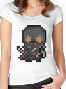 Ezio, The Pixel Assassin Women's Fitted Scoop T-Shirt
