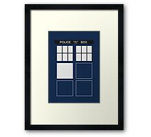 Tardis - Doctor Who Framed Print