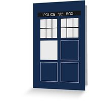 Tardis - Doctor Who Greeting Card