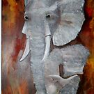 Elephants Dance by LJonesGalleries