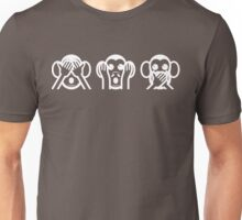 Three Wise Monkeys Emoji Unisex T-Shirt