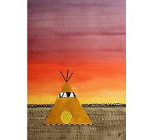 Tepee or Not Tepee original painting Photographic Print