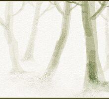 mist around trees- a digital landscape by basukshitiz