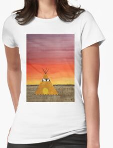 Tepee or Not Tepee original painting Womens Fitted T-Shirt
