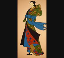 Geisha in blue, red and green T-Shirt