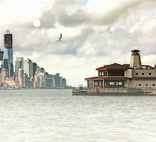 A VIEW OF LOWER MANHATTAN by TOM YORK