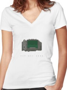 Pip-Boy 3000  Women's Fitted V-Neck T-Shirt