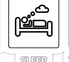 EAT - SLEEP - TV-SHOWS Sticker