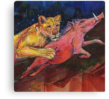 Lioness: She brings home the bacon Canvas Print