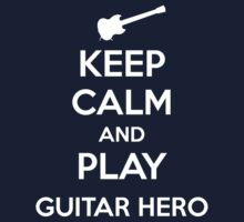 Keep Calm and Play Guitar Hero Kids Clothes