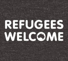 Refugees Welcome Australia (White) by M  Bianchi