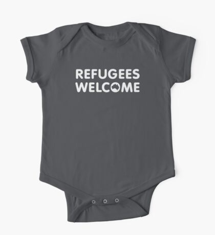 Refugees Welcome Australia (White) One Piece - Short Sleeve