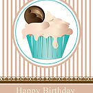 Cupcake Birthday Card Series of 6 No2 by Moonlake