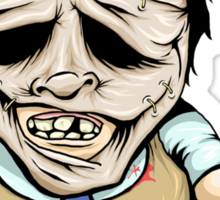 Tiny Leatherface Sticker