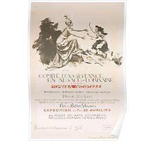 Comité dassistance en Alsace Lorraine Tombola artistique Exposition du 7 au 30 avril 1916 au Musée des Arts Décoratifs Poster