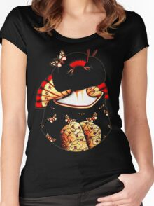 Geisha Girl TShirt Women's Fitted Scoop T-Shirt