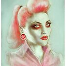 Rockabilly Zombie Pinup Art by ScreamingDemons