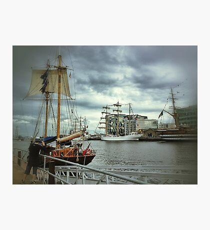 Photographer Sailor Photographic Print