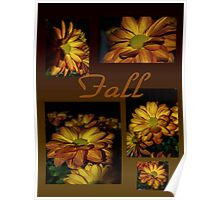 Fall Flowers Collage Poster