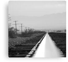 B&W on the rail Canvas Print