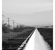 B&W on the rail Photographic Print